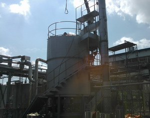 Destruction of bad odor emitted from a polymer plant