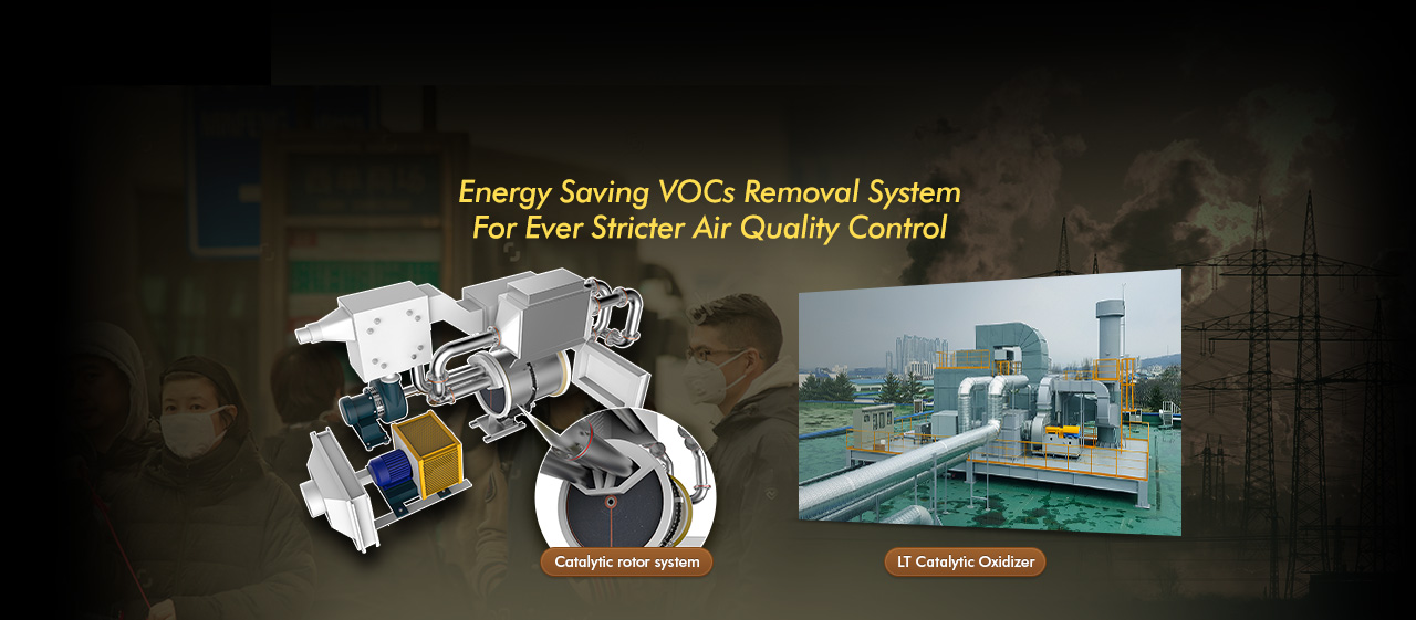 Energy Saving VOCs Removal System For Ever Stricter Air Quality Control